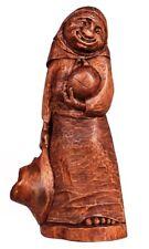 Scultura in legno | VECCHIETTA CON PANE | Benedykt Janaszek