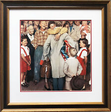 "Norman Rockwell ""Christmas Homecoming"" New CUSTOM FRAMED Art Print  Xmas"