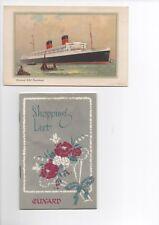 Vintage Westminster Cathedral Handbook & R.M.S Mauretania Card + Shopping List