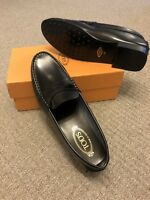 TOD'S Black Leather Loafers Moccasins shoes Size EU 42 UK 8 NEW RRP £320