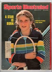 1976 3/22 Sports Illustrated magazine, Tracy Austin, Tennis A Star is Born EX