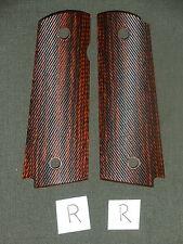 R 1911 Grips Diagonal Red Dymondwood 1911A1 Colt Kimber Springfield Micarta