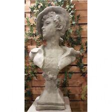 Buste Scarlett Sculpture en Pierre Jardin Figurine Décorative Femme Visage