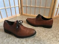 HARRYS OF LONDON MADE IN ITALY Brown oxford lace-up dress shoe SZ 41 8 rare nice