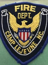 Marine Corps Camp Lejeune North Carolina Fire Department Patch old style