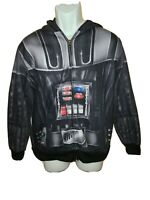 Darth Vader Star Wars Hoodie 3d style Full Zipper Jacket  Men's Size Large guc