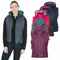 Trespass Aretha Womens Lightly Padded Body Warmer Gilet with Detachable Hood