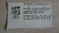 1970's? Ernie Lombardi UNKNOWN Card - Detroit Tigers - HOF