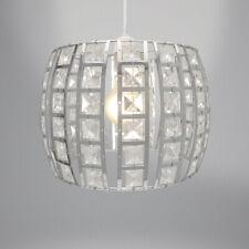 Country Club Opal Light Fitting, Silver 24cm Modern Home Lighting Shade Decor
