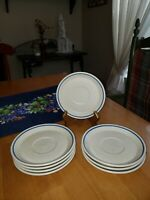 "Lenox Temper-ware 5.75"" Saucers Dewdrops 2 Sets of 4"