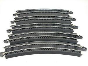 "Bachmann HO E-Z Snap Curved 9""  Black Track 18"" R 30 degrees Model Rail Road"