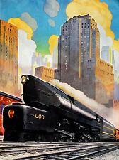 Publicité 1945 vitesse train Illustration Art Poster Print lv455