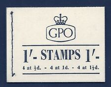K2b 1/- GPO QEII booklet - £10 Only on back/3d Letter Rate UNMOUNTED MINT/MNH