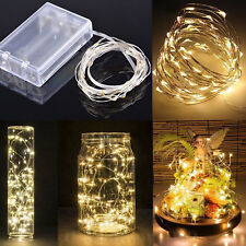 2m LED String Fairy Lights Wedding Party Spring Battery Decoration Warm White