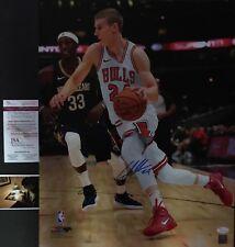 Lauri Markkanen Chicago Bulls Autographed Signed 16x20 Photo JSA WITNESS COA 2