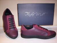 Frankie Model scarpe sportive basse sneakers casual uomo pelle bordò shoes men