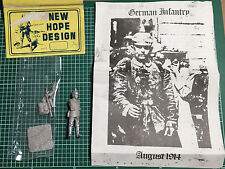 NEW HOPE DESIGN NH 16 - GERMAN INFANTRY AUGUST 1914 - 54mm WHITE METAL KIT