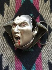 HALLOWEEN VAMPIRE DRACULA MONSTER BELT BUCKLE! GREAT AMERICAN BUCKLE CO.