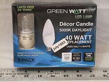 Four Dimmable Daylight LED Candelabra 40w replacement Fan Bulb Light 40 watt B