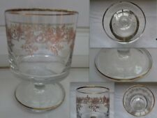 New listing Tall glass thick up garland grave lisere dore glass blowing