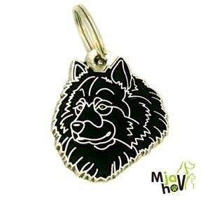 Dog name ID Tag,  Eurasier, Personalised, Engraved, Handmade, Charm