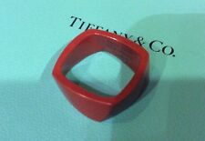 RARE Tiffany & Co. Frank Gehry Torque 925 Red Jasper Ring Size 6 Unisex