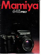Mamiya 645 Pro Advertising Camera Book Photography Mamiya American Corporation