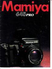 Mamiya 645 Pro Advertising Camera Book Photography Mamiya American Corporation