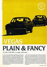 1971 Chevrolet Vega Road Test -  Original Car Review Print Article J387