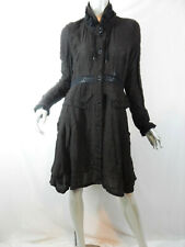 Deca Paris Dark Brown & Black Check Redingote Eve Victorian Jacket T2