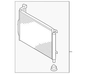 Genuine Kia A/C Condenser 97606-D5500