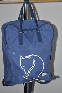 fjallraven big logo backpack made ireland blue vintage rare