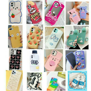 Case For iPhone 6 7 8 Plus X XS Max XR 13 Pro MAX Cute 3D Cartoon Silicone Cover