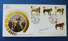 BENHAM 1998 ALL THE QUEENS HORSES FIRST DAY COVER SIGNED BY JOHN WHITTAKER