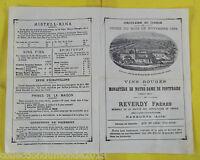 Antigua Circular Al Clero Vins Rojas Monasterio Notre-Dame Fontfroide 1884