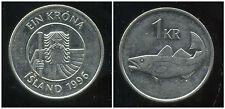 ISLANDE  1 krona  1996  ANM