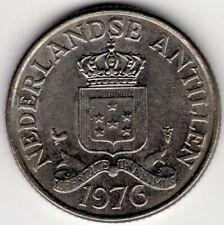 1976 NETHERLANDS ANTILLES TWENTY FIVE 25 CENTS NICE WORLD COIN