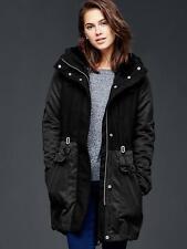 NWT GAP Women's Three-in-one parka jacket, Black Night SIZE XS