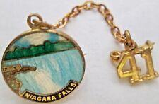 Niagara Falls Enameled Lapel Sweetheart Pin near mint circa 1941