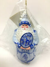 "Patricia Breen Stanhope Santa Ornament 6"" Blue Topiaries 3058 Nm Exclusive - New"