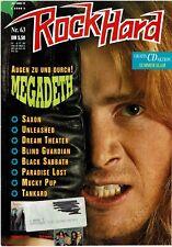 METAL HAMMER 63  / 8-1992- Megadeth, Black Sabath, Paradise Lost  (plus Poster)