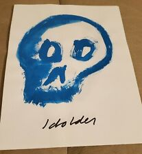 Fritz Scholder Skull Drawings; Acrylic on Paper