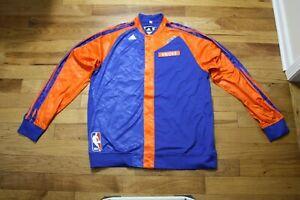 Cole Aldrich 2013-14 New York Knicks game used warm-up jacket 3XLT + 2