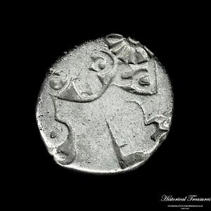 Ancient India Punch-marked Coinage - Karshapana - Weight: 3,24 grams.