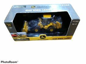 New 2008 ERTL 1:50 Scale Diecast John Deere 624K Wheel Loader Chargeur #15415