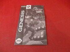 Contra Hard Corps Sega Genesis Instruction Manual Booklet ONLY *damaged*