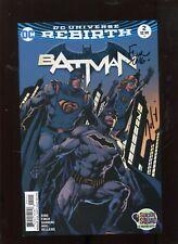 Batman Rebirth #2 (9.2) Signed Finch