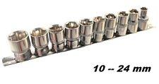 SET DI CHIAVI A BUSSOLA DA 1/2 10 PEZZI 10-24mm CON RACCOGLITORE CHROME VANADIUM