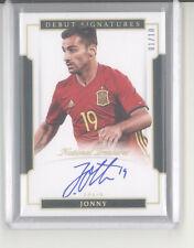 Jonny auto autograph card /10 2018 National Treasures Debut Signature gold Spain