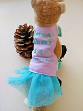 Ferret Reversible Harness - Carpet  Shark with Glitter Skirt - S/M